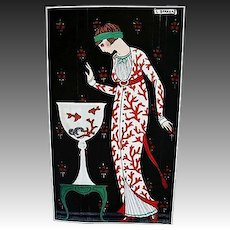 RARE 'French Fashion Plates in Art Deco', 1988 1st Ed, DJ, Fashion Designers, Out-of-Print, English and Japanese Text