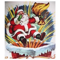1949 Little Golden Book 'The Night Before Christmas', Clement C. Moore, Holiday, Santa
