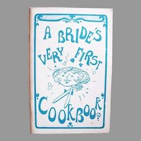 RARE 1966 ' A Bride's Very First Cookbook?' First Edition, Illustrated, James Croom, Humor, Wedding, Newlywed, Bridal Gift, Bachelorette Party, OUT-OF-PRINT