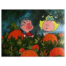 1967 'It's The Great Pumpkin Charlie Brown', Stated First Edition, Charles M. Schultz, Halloween, Television, Cartoon Characters, Comic Strips, RARE
