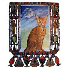 1988 'Cherub Cat, Angel Tiger' First Edition, DJ, Marie Angel Paintings, Feline Art, History, Wild Animals