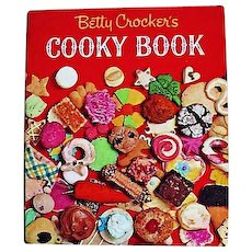 1963 'Betty Crocker's Cooky Book', RARE First Edition, Entertaining, Holidays, Betty Crocker's Best Cookies, Recipes, Pastry, Oversize, Vintage