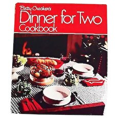 1973 Betty Crocker's Dinner For Two Cookbook, RARE First Edition, Stated First Printing, Oversize, Vintage, Recipes, Bridal Shower Gift