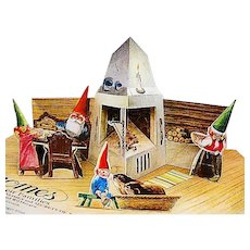 1983 'Pop-Up Book of Gnomes and Their Families' RARE First Edition, Rien Poortvliet Illustrations, Mythology, Out-of-Print, Paper Engineering by James Roger Diaz, Hardcover
