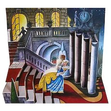 1982 Cinderella Pop-Up Book, 3D Panorama Art, RARE Out-of-Print, First Edition, Kubasta Illustrations, Printed in Czechoslovakia