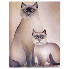 1985 'All Our Cats' RARE Stated First Edition, Dustjacket, Feline Art, Paintings, European Art, American Art, Kittens, Siamese Cats, French Artists, American Artists, Hardcover, Gift Quality, Out-of-Print,
