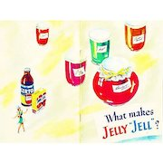 """1951 'General Foods' What Makes Jelly """"Jell""""? Cookbook, Illustrated, Certo, Sure Jell, Recipes, Canning, Advertising, Desserts, Ice Cream, RARE"""