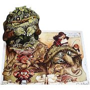 1983 'Goblins' Pop-Up Book by Brian Froud, RARE Stated First Edition, Mythology, Fantasy, 3D Art, Movie, Labyrinth, Fairies, Out-of-Print, Pages MINT