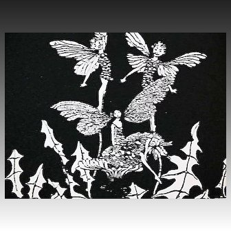 1925 'Silver Pennies', RARE First Edition, Illustrated Poetry, Fairies, Elves, Fairy Art, Emily Dickinson, Rose Fyleman, Edna St. Vincent Millay, Carl Sandburg, Walter de la Mare, Harold Munro, Modern Poems for Boys and Girls, Out-of-Print