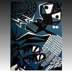 1959 'Yoruba Poetry'  RARE First Printing, Ulli Beier, Susanne Wenger Art, Nigerian Poets, Nigerian Folklorists, Yoruba Writers, Bakare Gbadamosi, West Africa, Black Orpheus, Osun State, Silkscreen Prints, Out-of-Print