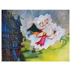 1996 'The Fairies' Tale' Pop-Up Book, RARE First Edition, Illustrated by Tracey Morgan, Fairy Tale, Fairyland, Fantasy, Castles, Wizard, Animals, Pop-ups, Foil and More by Jamie Lehrer, Out-of-Print