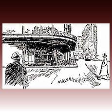 1950 'Tales of the Observer', RARE First Edition, Illustrated, Boston, Jordan Marsh Department Store, Eben Jordan, Richard H. Edwards Jr, Fashion, 100th Centennial Anniversary '1851 to 1951', Out-of-Print