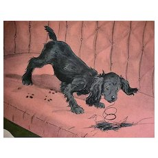 1935 'Topsy AND Angus and the Cat', Marjorie Flack, Stated First Edition, Scottie Dog, Cocker Spaniel, Scottish Terrier, RARE Two Books in One, Lithograph Illustrations, Dog Art, Cat Art, Pen and Ink Drawings, Hardcover, Out-of-Print