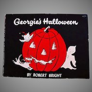 1958 'Georgie's Halloween' Robert Bright Illustrations, RARE First Edition, Ghost Story, Georgie the Ghost Series, Children's Series, Halloween Story, Vintage