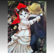 1992 Impressionist Cats, Art, Susan Herbert, RARE First Edition, First Printing, DJ, Humor, Feline Art, Paintings, Theatrical Art, Pages MINT, Out-of-Print