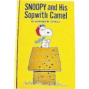 1969 'Snoopy and His Sopwith Camel' Charles M. Schulz, RARE Stated First Edition, Original DJ, Red Baron, Peanuts, Charlie Brown, Pages MINT