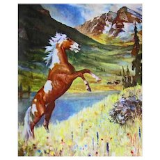 1951 'Album of Horses' Marguerite Henry, Wesley Dennis Illustrations, RARE First Edition, Lithograph Prints, Paintings, Equine Art, Lipizzans, Clydesdale, Chincoteague Pony, Tennessee Walking Horse, Palomino