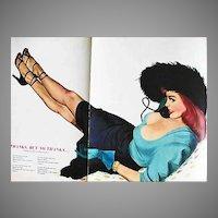 RARE November 1950 Esquire Magazine, 'Al Moore' Painting, Pin-Up Girl, Carol Channing, Ray Bradbury, Arnold Hano, Notre Dame, Frank Leahy, Cowboy, Hy Peskin, Ted Sloan, Robert Mitchum, Harpo Marx