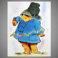 1976 'The Great Big Paddington Book', RARE First American Edition, First Printing, Paddington Bear of London, Michael Bond, Ivor Wood Illustrations, Stories, Recipes, Christmas Crafts, Magic Tricks