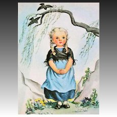 1942 'Prayers For Children' RARE True First Edition, Little Golden Book, Early Illustrations, Rachel Taft Dixon, Drawings, Choir Boys, Original Blue Spine
