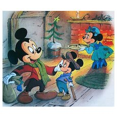 1996 Disney's 'Mickey's Christmas Carol'  RARE First Edition, Golden Book, Mickey Mouse, Minnie Mouse, Donald Duck, Pluto