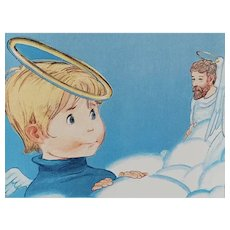 1985 'The Littlest Angel Pop-up Book', Charles Tazewell, Christmas Stories, Religion, OUT-OF-PRINT Edition