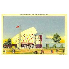 RARE 1939 New York World Fair 'The Wonder Bakery' Postcard - Advertising / Unused / Hostess Cake / Ephemera