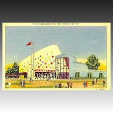 RARE 1939 New York World Fair 'The Wonder Bakery' Postcard - Advertising / Unused / Hostess Cake / Ephemera