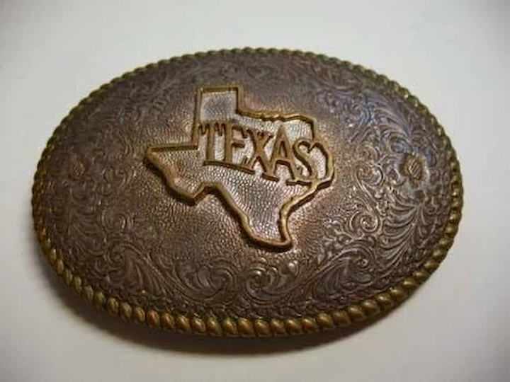 Vintage Texas CRUMRINE Jewelers Western Belt Buckle – Heavy Silver Plate On  Jewelers Bronze / Made In USA