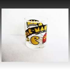 1982 PAC-MAN Shot Glass, Vintage Arcade Game Bally Midway, Collector Novelty