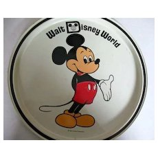 1960's MICKEY MOUSE Walt Disney World Tin Tray, Florida - Vintage Walt Disney Productions, Cartoon Characters
