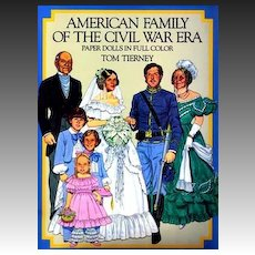 Tom Tierney Paper Dolls, Uncut, 1800's Civil War Fashion - 1985 Original Dover, American Family, Vintage