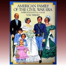 Tom Tierney Paper Dolls, Uncut, 1800's Civil War Fashion - 1985 Original Dover, American Family, Vintage