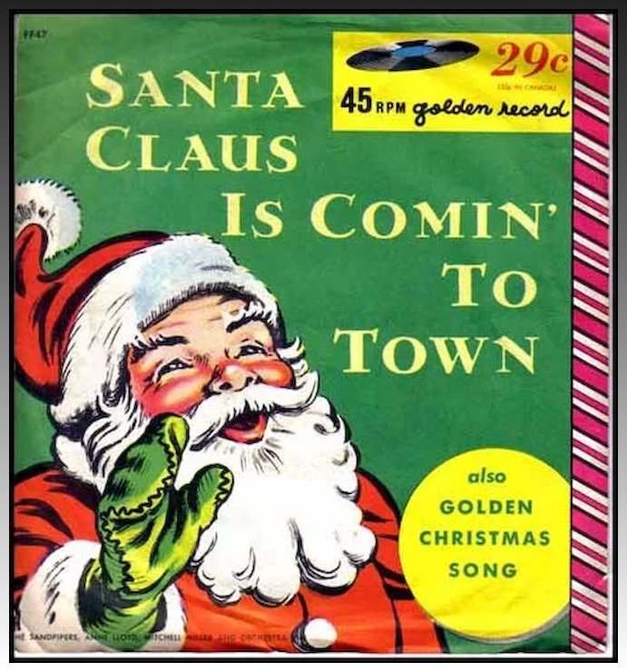 1958 santa claus is comin to town christmas little golden record 45rpm mitch - Books About Santa Claus 2