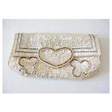 GORGEOUS 'La Regale' Sequined Evening Bag, Hand Made, Vintage, Japan, Beaded, Clutch, Designer