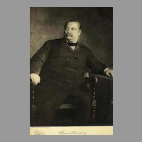 1907 Antique 'Grover Cleveland' Presidential Portrait, Fine Art, Gravure Print, Antique Art, History