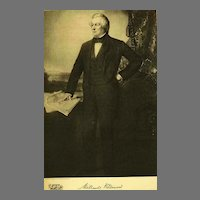 1907 Antique 'Millard Fillmore' Presidential Portrait, Fine Art, Gravure Print, Antique Art, History