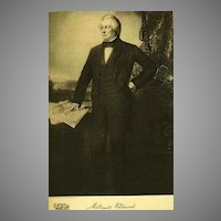 1907 Antique 'Millard Fillmore' Presidential Portrait, Fine Art, Gravure Print, Antique Art, History