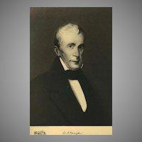 1907 Antique 'William H. Harrison' Presidential Portrait, Fine Art, Antique Art, Gravure Print, History