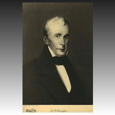 1907 Antique 'William H. Harrison' Presidential Portrait, Fine Art, Antique Art, Gravure Print, History