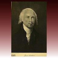 1907 Antique 'James Madison' Presidential Portrait, Fine Art, Antique Art, Gravure Print, History