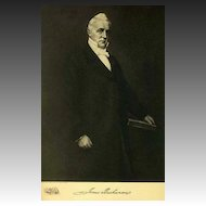 1907 Antique 'James Buchanan' Presidential Portrait, Fine Art, Antique Art, Gravure Print, History