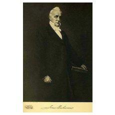 1907 Antique 'James Buchanan' Presidential Portrait, Fine Art, Antique Art, Gravure Print, History
