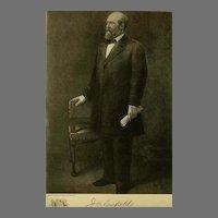 1907 Antique 'James Garfield' Presidential Portrait, Fine Art, Antique Art, Gravure Print, History