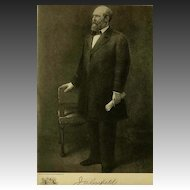 1907 Antique 'James Garfield' Presidential Portrait, Fine Art, Antique Art, Gravure Print, History