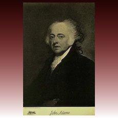 1907 Antique 'John Adams' Presidential Portrait, Fine Art, Antique Art, Gravure Print, History