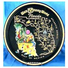 Walt Disney World Florida Tray, Collector's Vintage – Mickey Mouse, Donald Duck, GoofySouvenir,