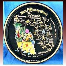 Walt Disney World Florida Tray, Collector's Vintage – Mickey Mouse, Donald Duck, GoofySouvenir,