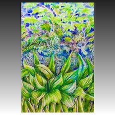 EXQUISITE Original Drawing 'Meditation on Nature' Series by Judith Jaffe, Signed, Original Art, Nature, Botanical, Flowers, Garden