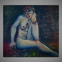 STUNNING Original Nude Painting by Judith Jaffe, Signed, Mixed Media, Nude Woman, Original Art, Pastel, Watercolor, New England Artist, One-of-a-Kind